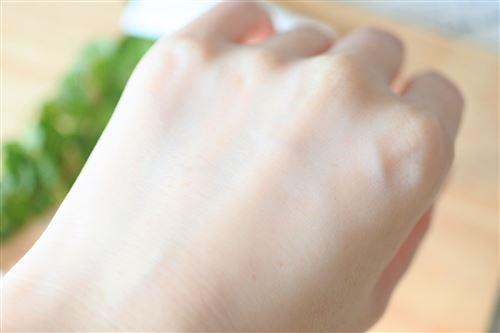 手の甲の洗い上がり